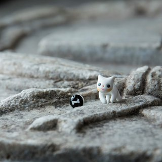 Zero Cat - Polymer Clay Earrings, Handmade&Handpaited Catlover Gift