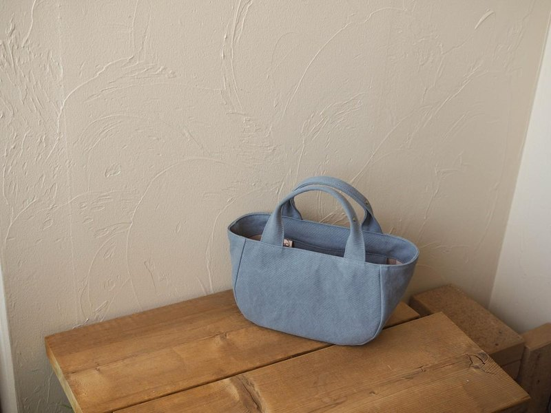 Round tote with lid S gray