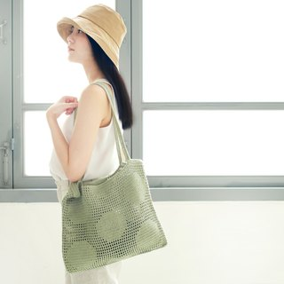 Crochet Polka Dot Tote Bag | PaleMint