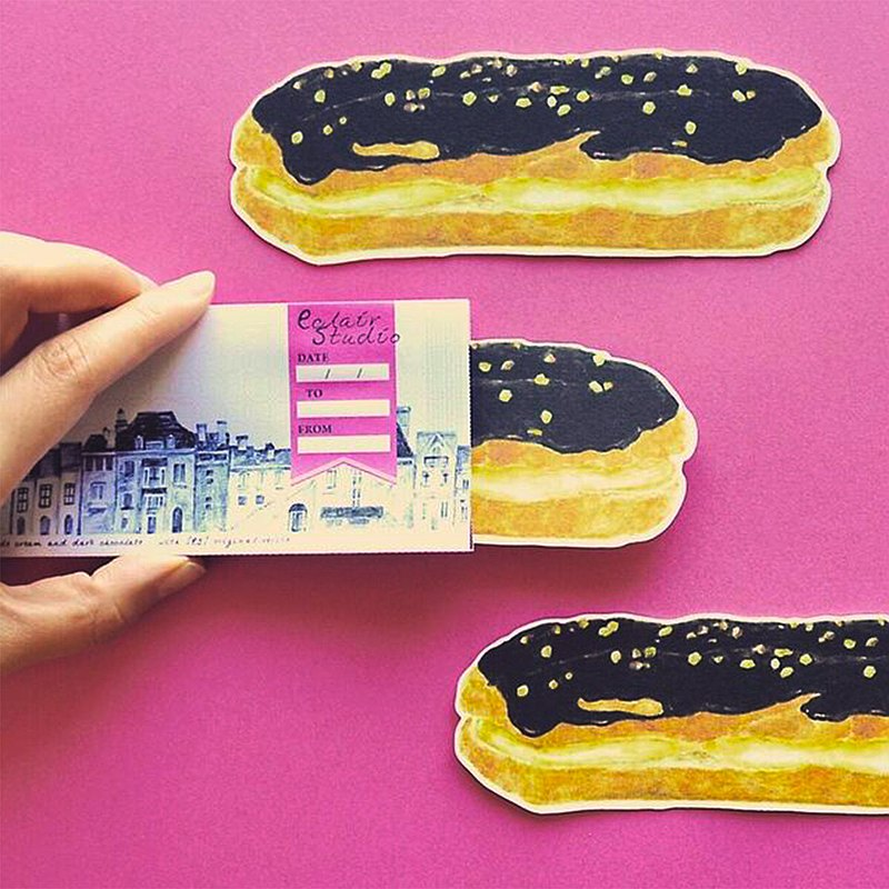 Greeting card / eclair