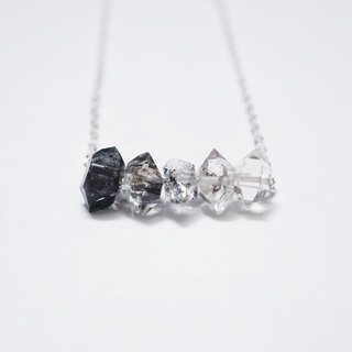 [The Shadow Collection] 925纯银渐变色闪灵石项链 Ombre Gradient Herkimer Diamond 925 Sterling Silver Necklace