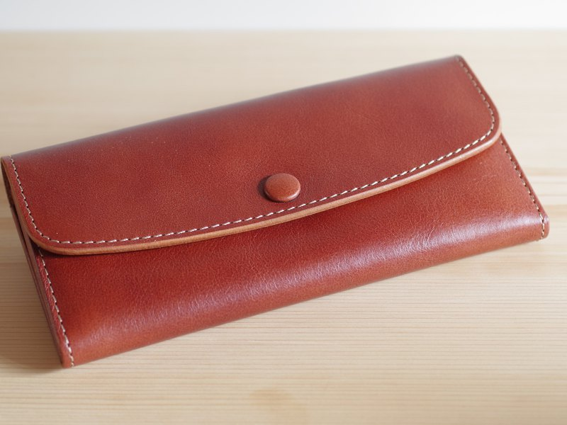 Nume leather long wallet antique brown