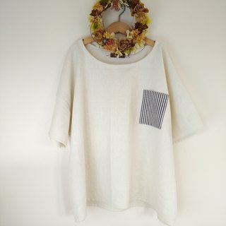 relax daily pullover cotton linen ivory