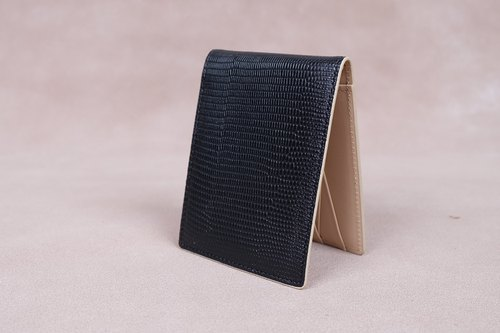 Money Clip / Card Case / Italy Cow Leather(Black)