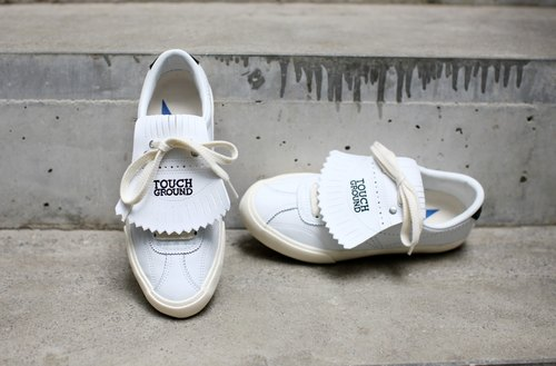 TOUCH GROUND 韩国复古手工波鞋 VINTAGE BOWLING OG SNEAKERS WHITE BLACK P00000TX