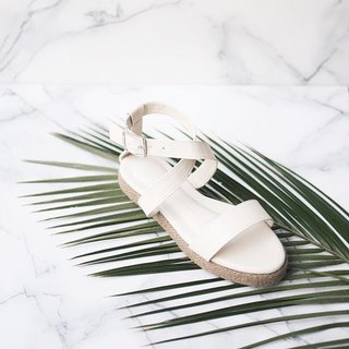 Cross Strap Sandals (White)