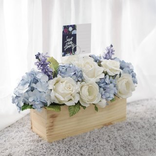 Dining Table Wooden Centerpiece Handmade Paper Flower Decoration