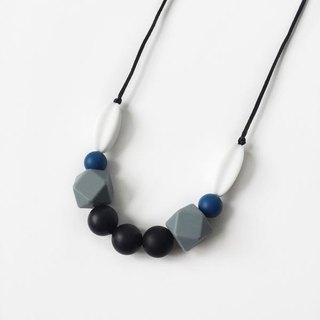 SAGE SILICONE NECKLACE - INK BLUE