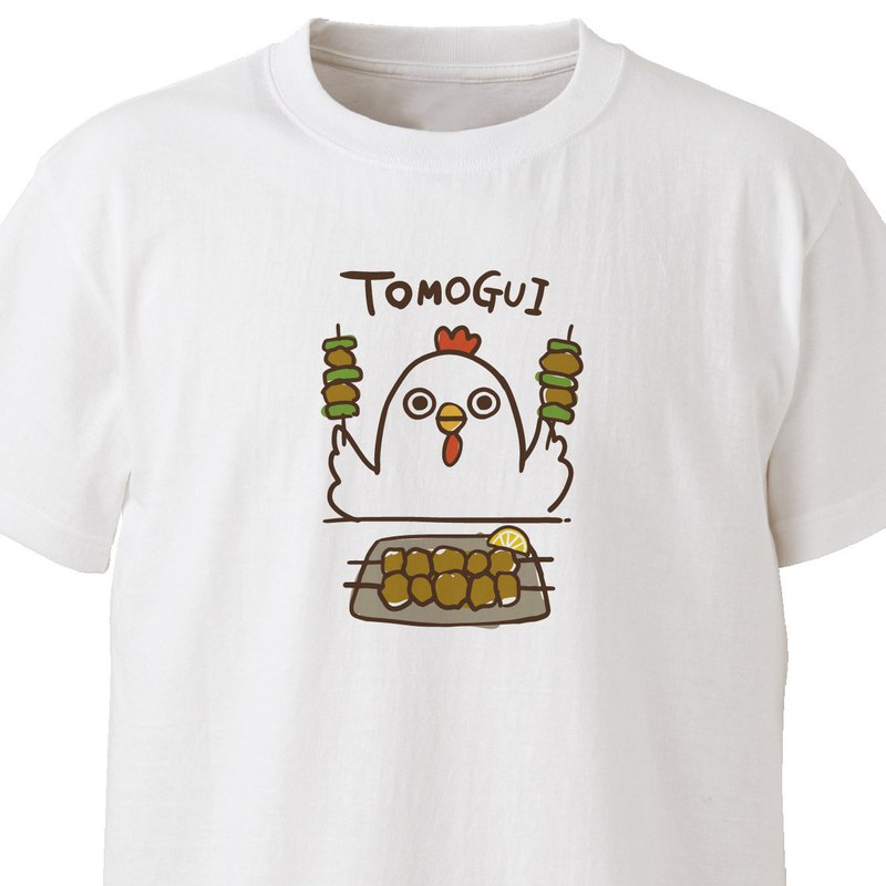 Tomoegui (bird) [white] ekot T-shirt illustration-hawk [Rameko Yodogawa]