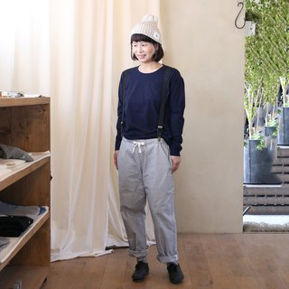 HUIS × yohaku plain cotton cut sewn navy size 2