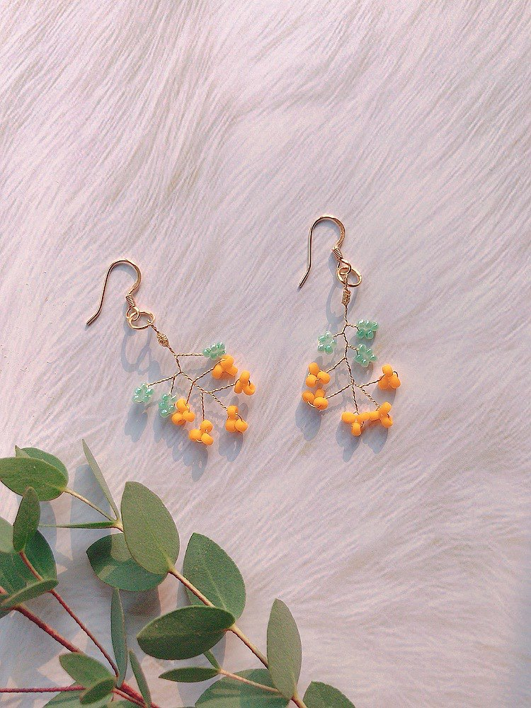 Cute mimosa earrings