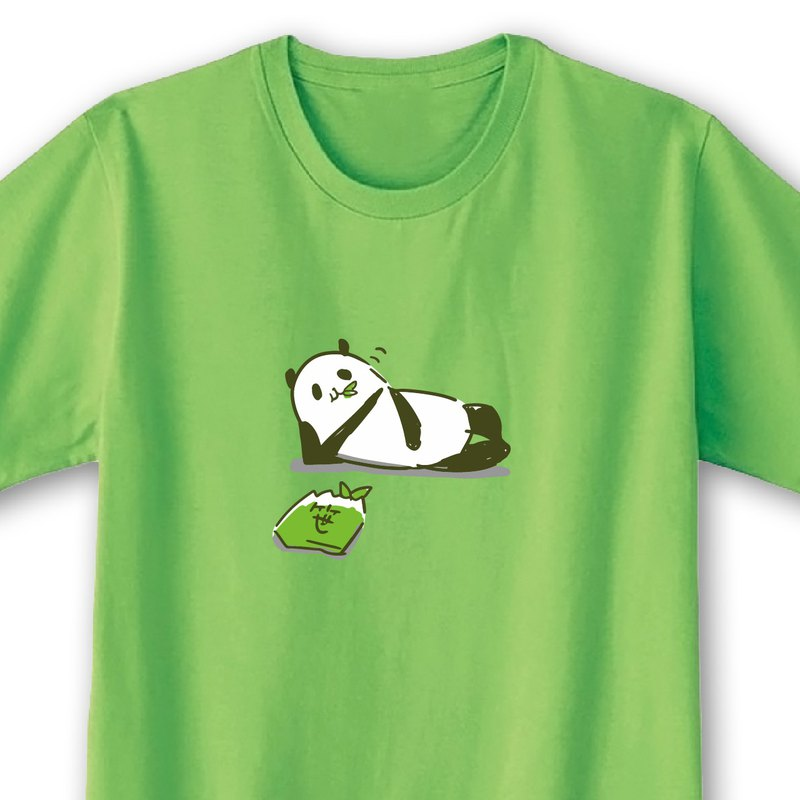 Mushyam Panda [Lime Green] ekot T-shirt Illustration-Taka [Rameko Minagawa]