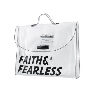 Faith & Fearless PVC FOLDER WHITE 公文袋