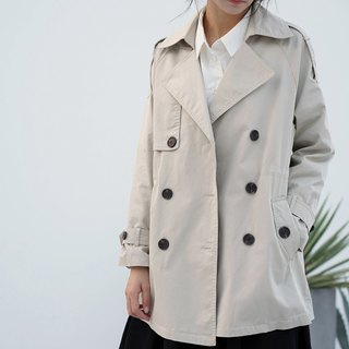 ee18/ classic double-breasted coat