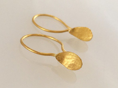 K24 Pure Gold Drops pure gold earrings one ear
