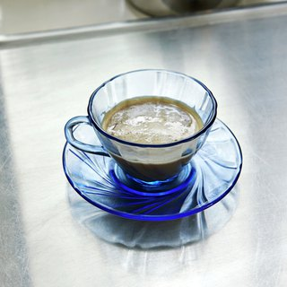 french coffee cup w/ saucer / 法国制咖啡杯 - Blue / 蓝
