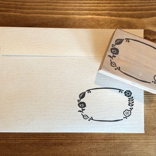 Scandinavian oval frame stamp