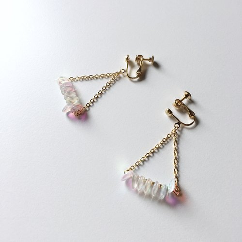 Elegant Triangle Czech Beads Earrings