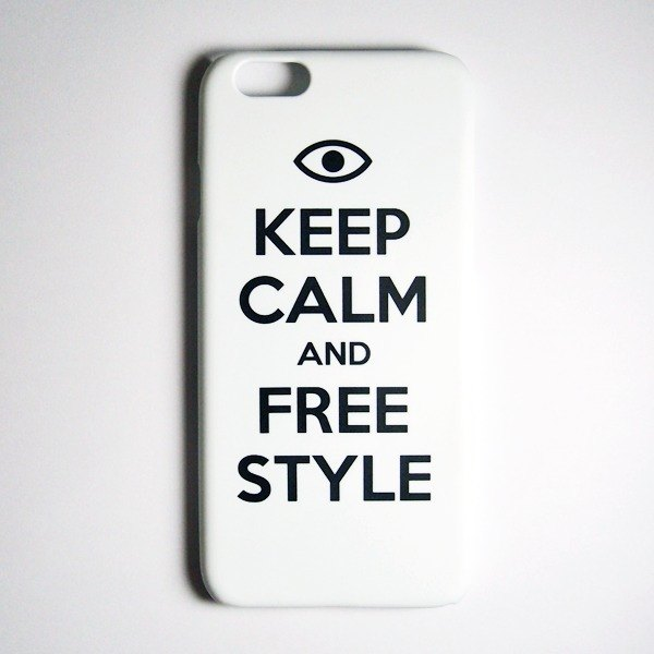 SO GEEK 手机壳设计品牌 THE KEEP CALM GEEK FREE STYLE款(白)