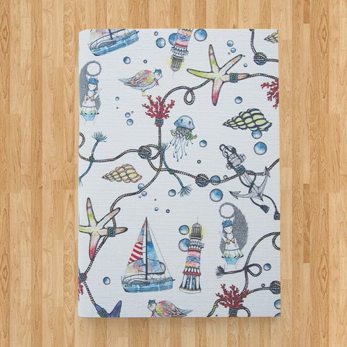 Notebook A6 - Let's go to the sea ( White )