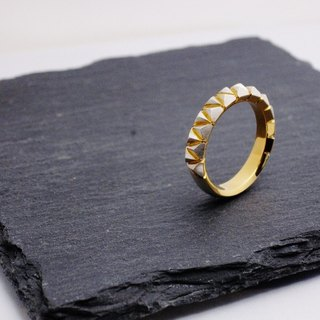 piccola triangolo ring / Piccola Triangolo Silver Gold Coating Ring