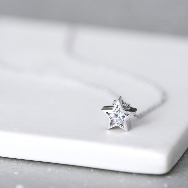 White Star Necklace 925 Sterling Silver