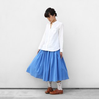 Loose cotton skirt · light blue