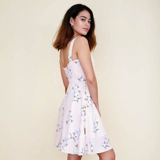 Flores Button-up Dress : Pink