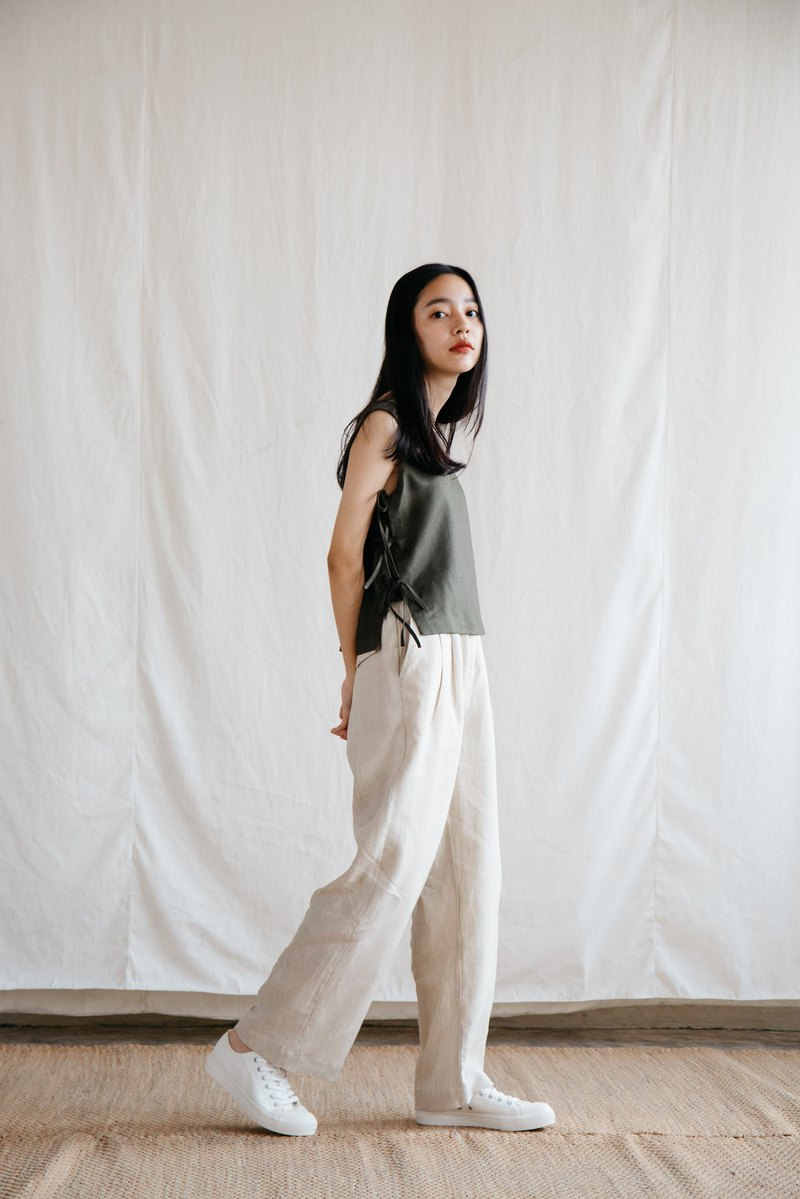 Relax Linen Trousers in Natural