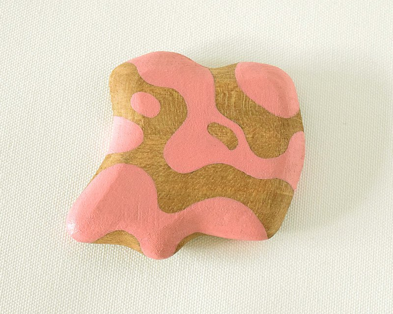 Abstract Vanity Hand Mirror (pink) float