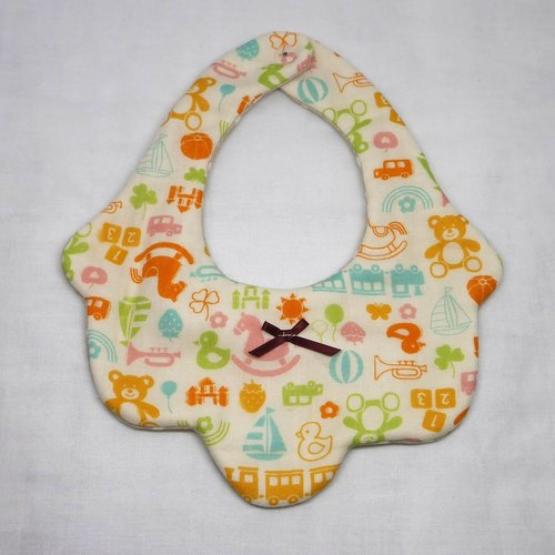 Japanese Handmade 8-layer-gauze Baby Bib/ Toy