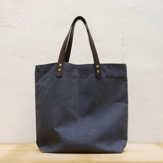 Coody waxed canvas city tote 牛皮提把油蜡布城市托特袋