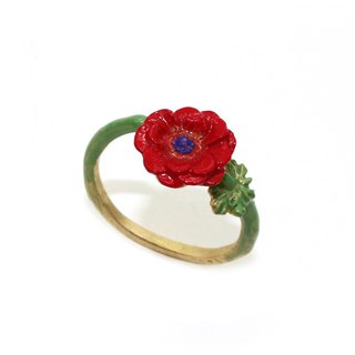 Anemone ring red RN 143RE