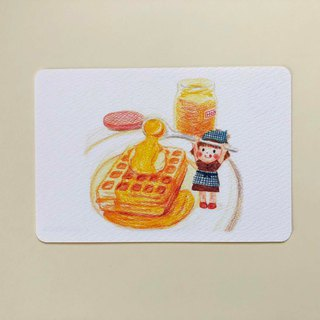 Honey and salty waffle postcard no.005