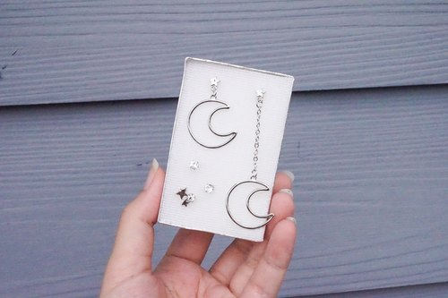 Moon earring box set