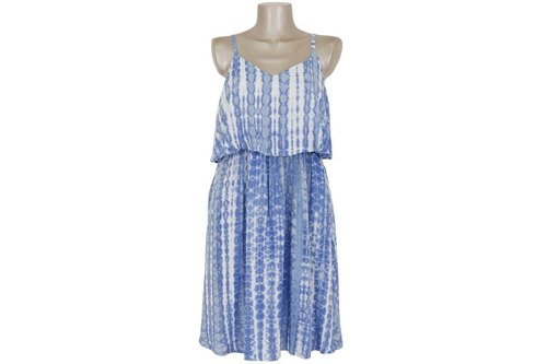 New! Tie dye camisole Ruffle Dress <Blue>