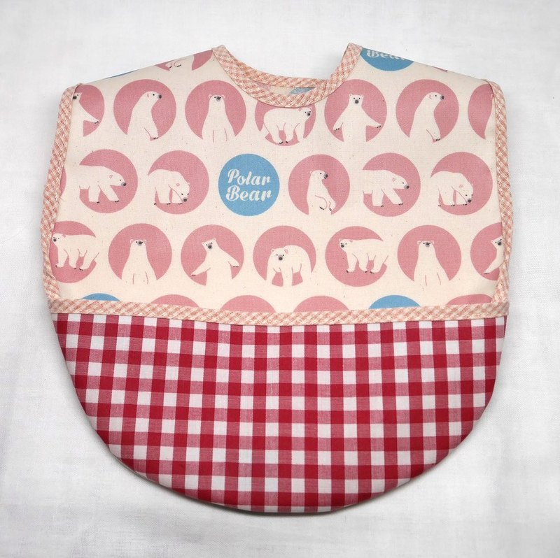 Meal apron Polar Bear Pink