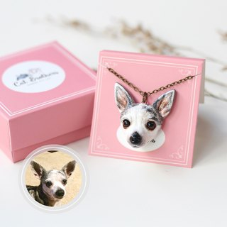 Custom dog portraits necklaces, Custom dog face necklaces, Custom dog necklace