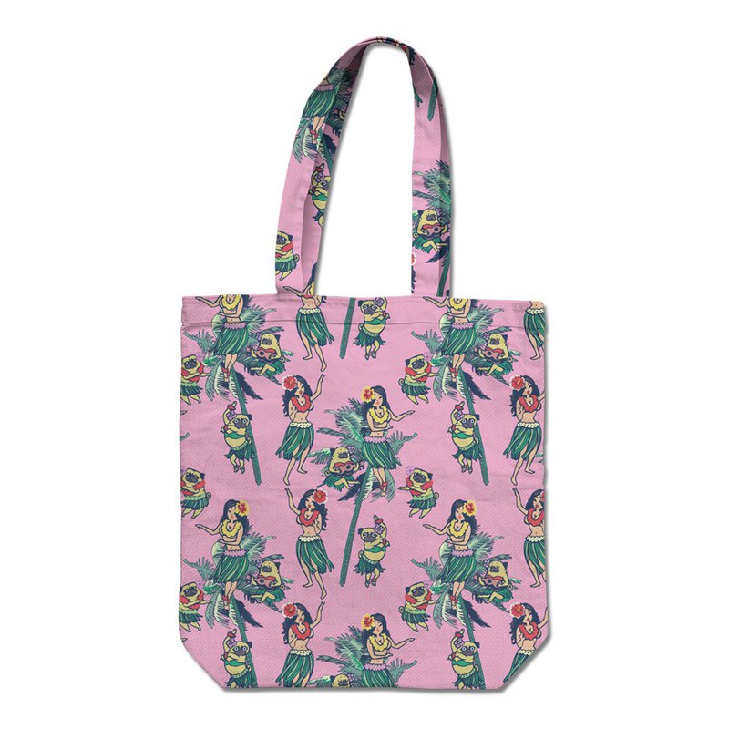 PUG Life • Hawaii Hula with Pug • Tote Bag