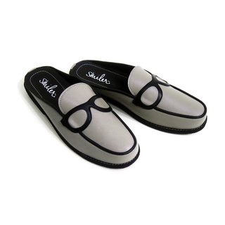 Glasses half-sandals - Grey