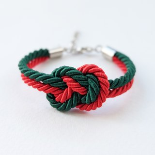 Christmas gift collection , Green/Red Infinity bracelet