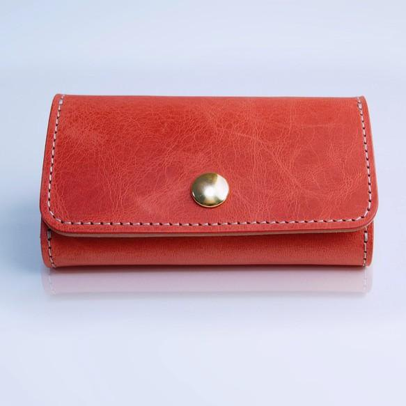 Leather key case (wine)