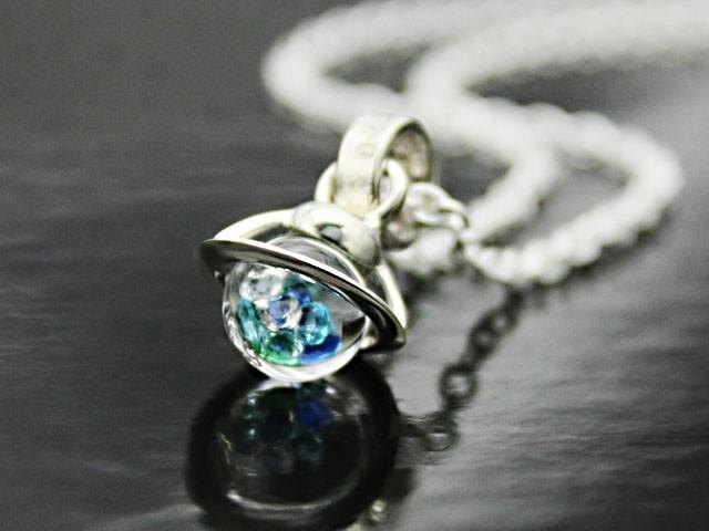 Saturn Baby Pendant Blue · iceblue Color