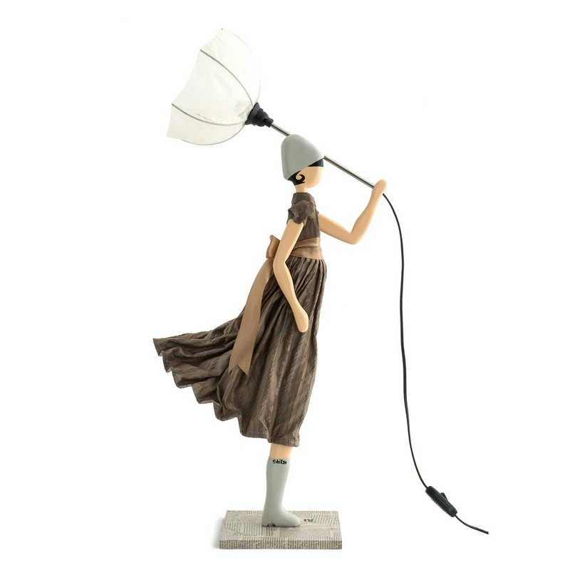 Wind Little Girl Fashionable Lamp Mersianna Stand Light