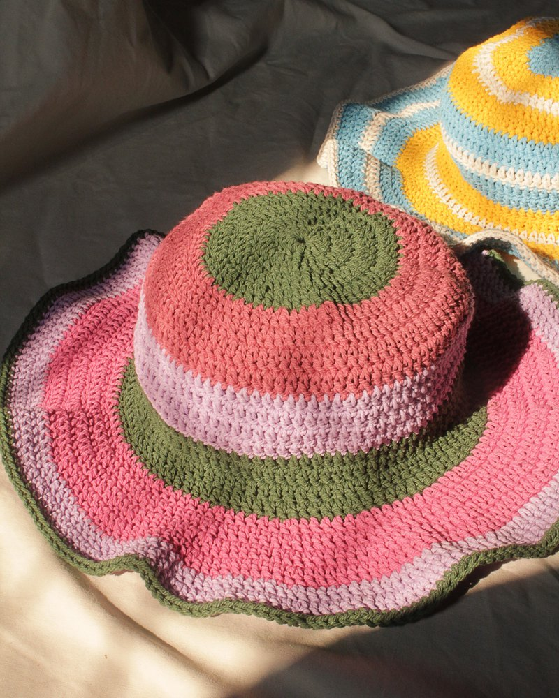 Striped Crochet Hat ,Candy Hat ,Summer Hat ,Baby Hat