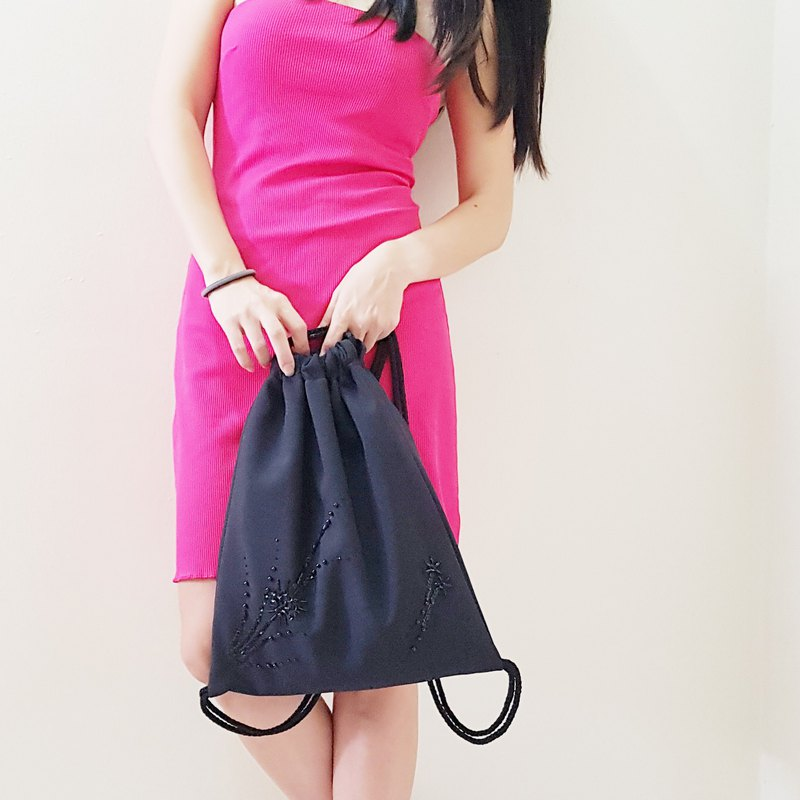 Convertible Drawstring Bag / Backpack / Clutch Bag / Dinner Bag / Evening Bag