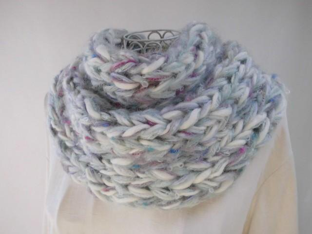 Re-exhibition × 1 Fluffy Snood · Stone Flower · Merino Wool · Baby Alpaca · Super Kid · Rich wool-like wool plenty
