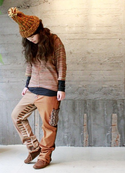 ☆ Hammock ☆ 彡 Hammock Handmade Cotton Knit Saruel Pants