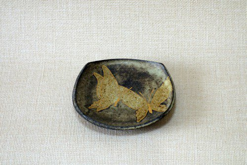 Four sides plate (golden butterfly)