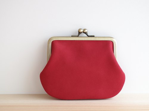 Square shaped nubuck leather gameto red